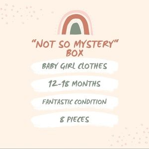 """""""Not So Mystery"""" Box Baby Girl Clothes 12-18 Month"""